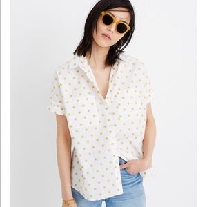 Madewell sun embroidered courier shirt, NWT